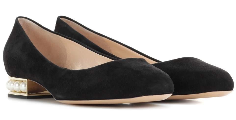 Nicholas Kirkwood - Casati Ballerinas Pearl in schwarz