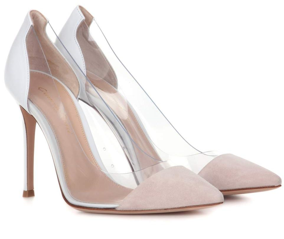 Gianvito Rossi Plexi Pumps in weiß