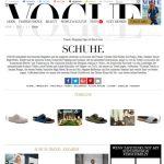 Vogue Titelseite Schuhe
