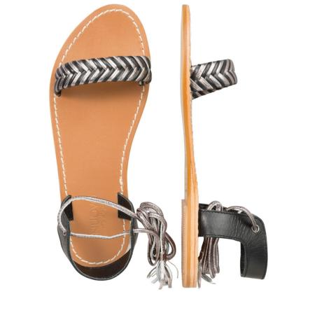Schwarze Sandaletten mit Bänder