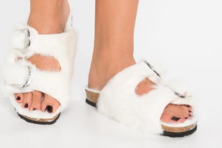 Topshop Fiercy Furry weiß