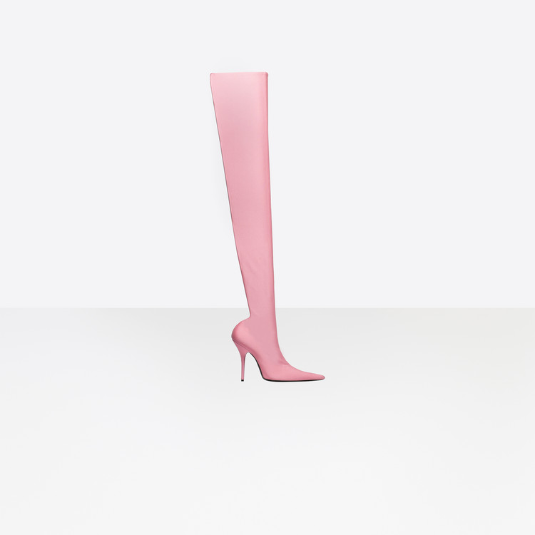 Knife Overknee Stiefel in rose