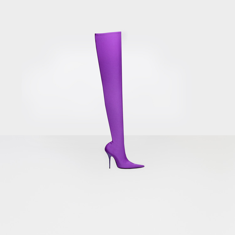 Knife Overknee Stiefel in violett