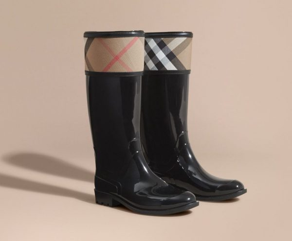 Burberry in House Check Gummistiefel
