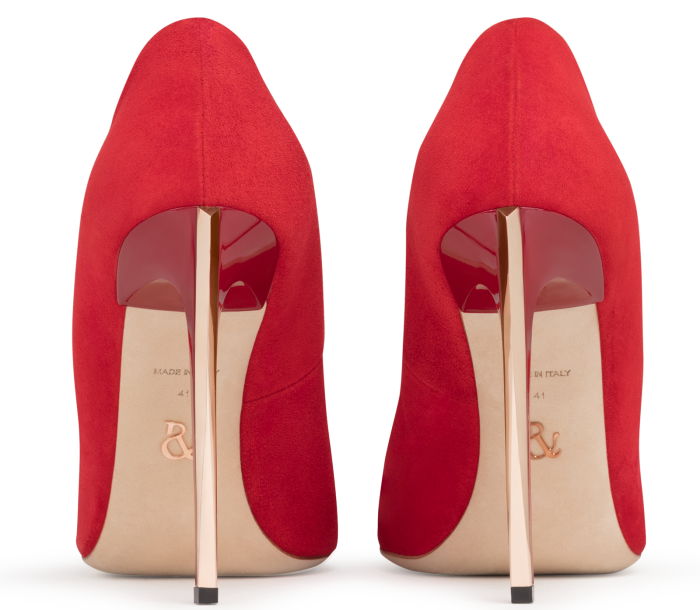 RALPH & RUSSO Empire Pumps in rot