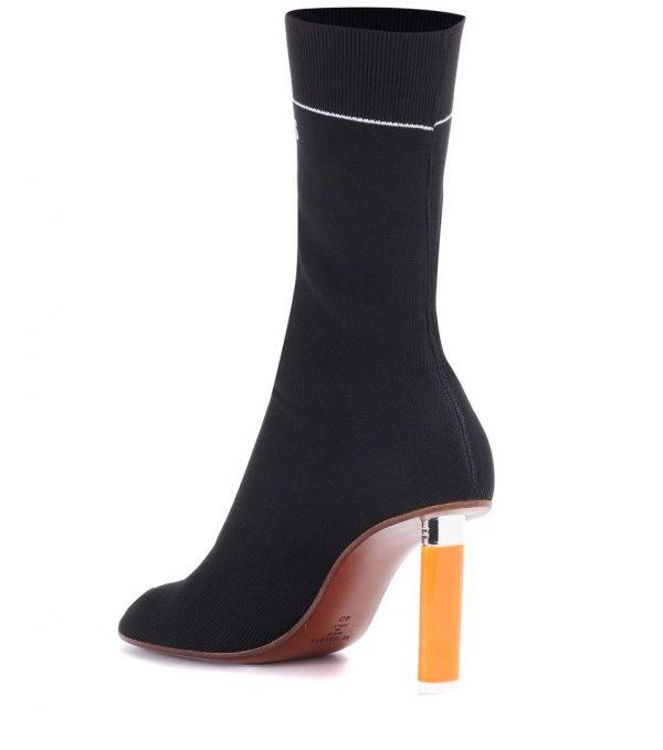VETEMENTS Strecht Jersey Ankle Boots