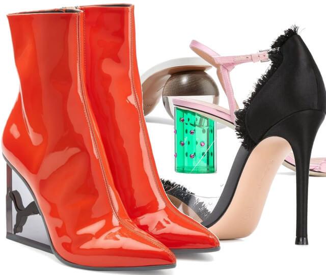 7 Schuhe mit Plexi Heels vorgestellt