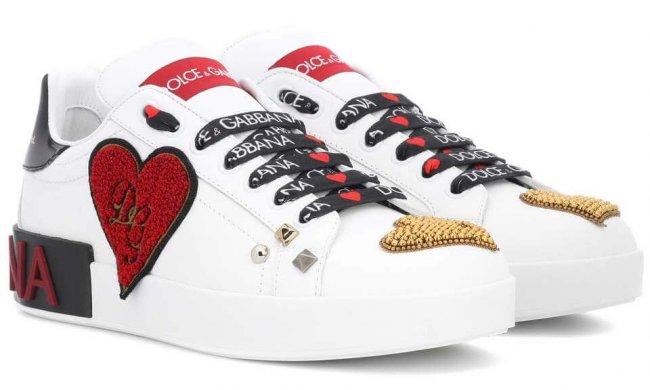 Dolce & Gabbana Herz Ledersneaker 2018