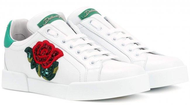 Dolce & Gabbana Embelished Ledersneaker 2018