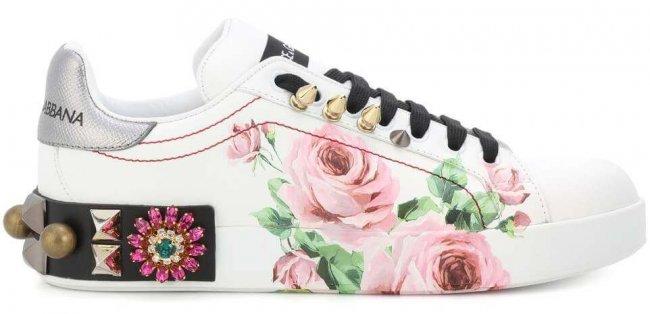 Dolce & Gabbana Sneaker 2018 mit Rosenmotiv