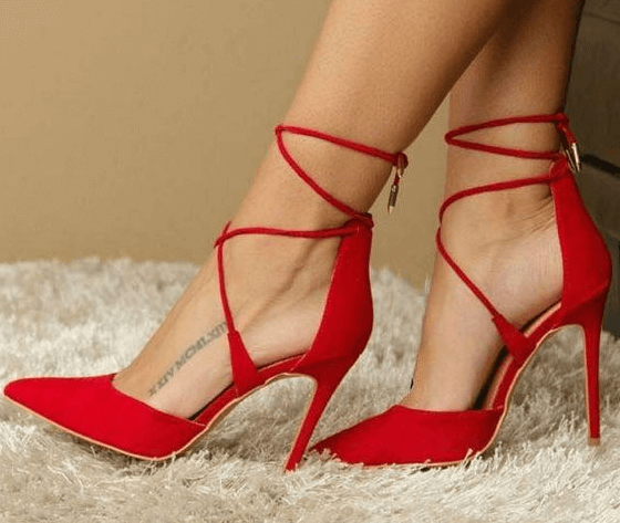 Schmerzende Füße High Heels
