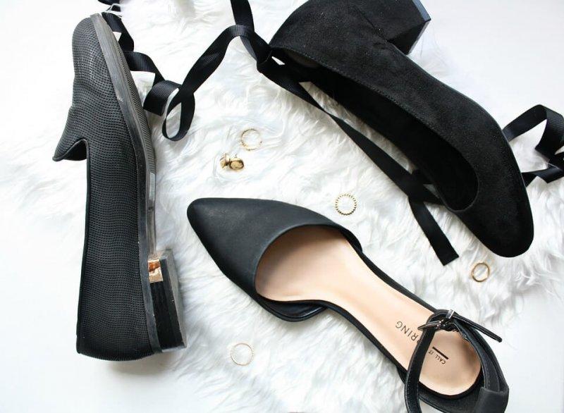 Schwarze Pumps und Heels