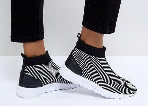 ASOS Sneaker Socken Schwarzweiß